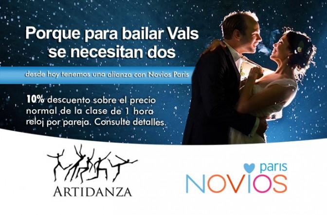 ahora tenemos una alianza con Novios Paris en el curso de Vals